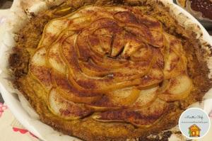 Crostata di pere con frolla di mais