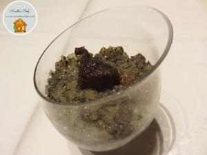 Tapioca pudding con poppy seeds, fichi e limone