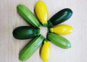 Zucchine chiare, scure e gialle - Immagine presa da internet