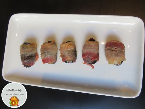 Stuzzichini di prugne e bacon