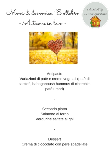 "Menù ""Autumn in love"""