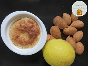 Soufflé al limone con mandorle e cardamomo