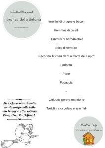 """Menù de """"Il pranzo dell'Epifania: 1° comple-blog"""""""