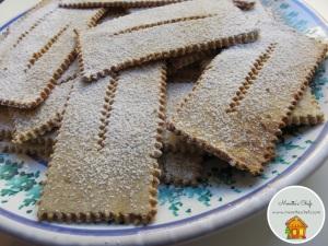 Chiacchiere senza glutine al forno