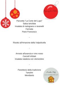 Il menù del pranzo di Natale 2015