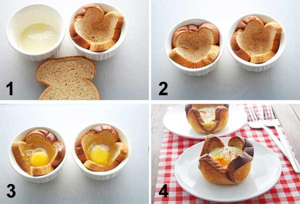 """""""Eggs in a basket"""": uova in cestino per la colazione di Pasqua"""