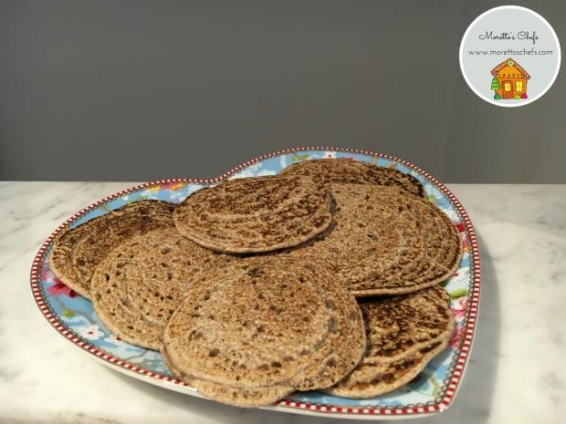 """""""Chapaccine"""" di grano saraceno in padella (tigelline senza grassi, senza lievito e senza glutine)"""