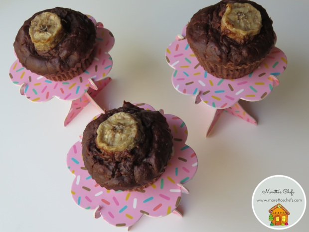 Muffin alla banana e cacao