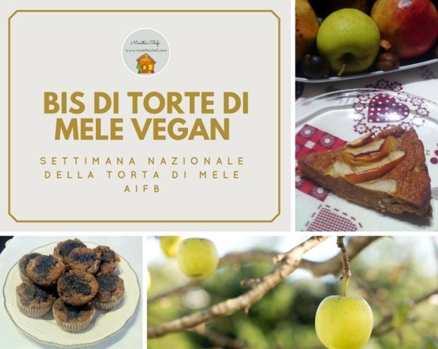 Bis di torte di mele vegan - Settimana nazionale della torta di mele AIFB