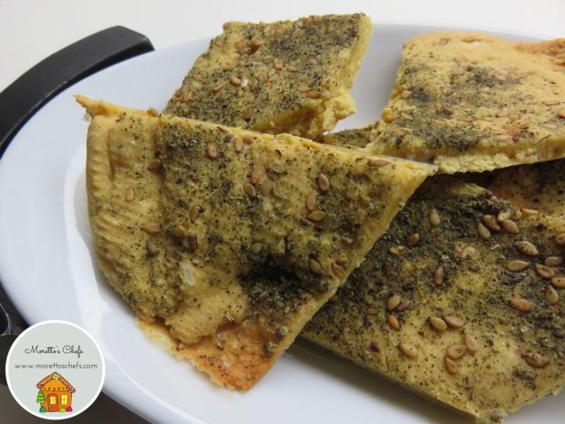Crackers di farina di ceci e za'atar - ricetta per Vivere per Raccontarla
