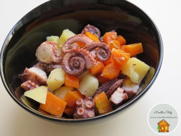 Insalata di polpo, carote, patate e zenzero - Giornata nazionale del polpo AIFB