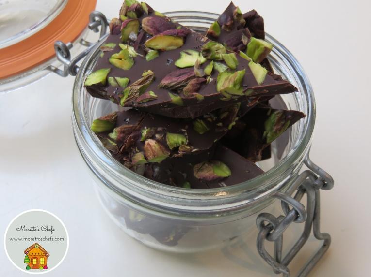 Croccante al cioccolato, pistacchio e sale marino integrale