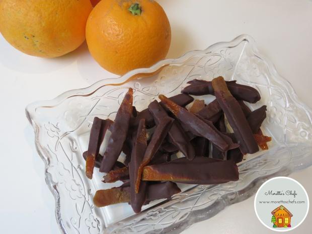 Scorzette d'arancia candite al cioccolato e cannella- Giornata Nazionale delle scorzette candite AIFB