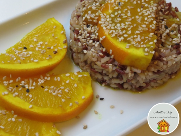 Riso Java all'arancia, curcuma, zenzero e sesamo - ricetta per Il Circolo del Cibo Altromercato