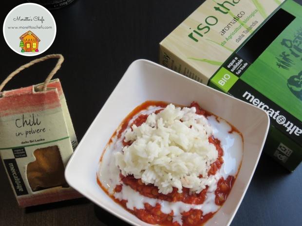 Chili con riso thay e lenticchie - ricetta per Il Circolo del Cibo Altromercato