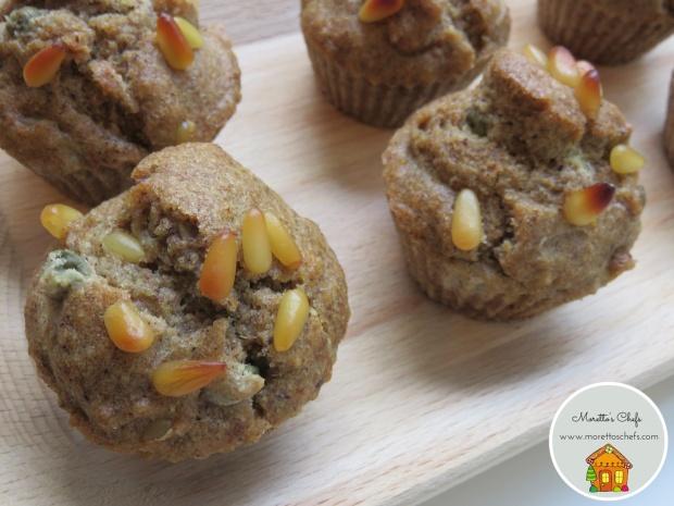 Muffin salati capperi, senape, pinoli e limone