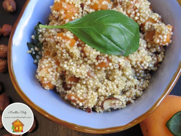 Insalata di quinoa con carote, albicocche e nocciole - ricetta per Il Circolo del Cibo Altromercato
