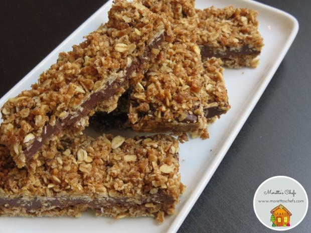 Barrette di cereali e cioccolato fatte in casa - ricetta per Wannabemum