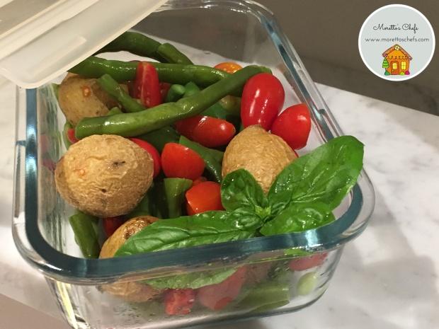 Insalata fagiolini, pomodorini e patate novelle - #schiscettaperfetta