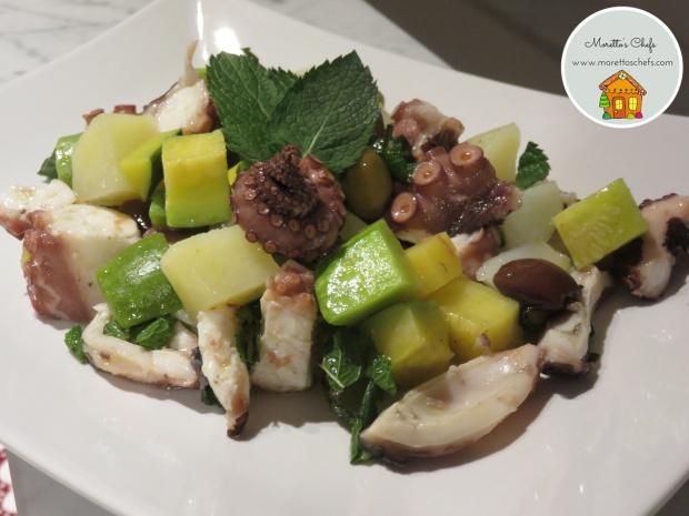 Insalata polpo, zucchine, patate, olive