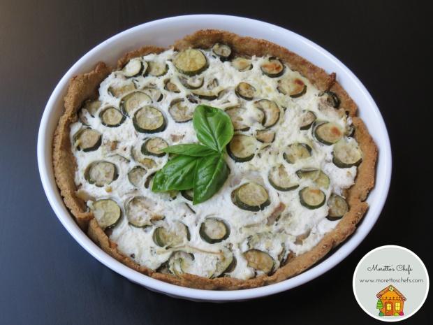 Torta salata con zucchine e ricotta - ricetta per Wannabemum