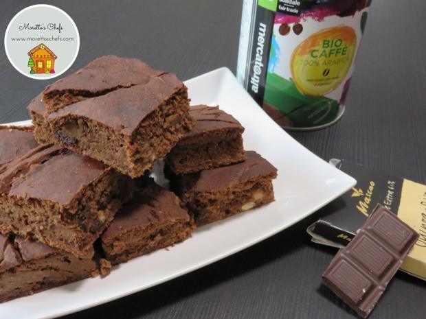 Brownies al caffè senza farina - ricetta per Il Circolo del Cibo Altromercato
