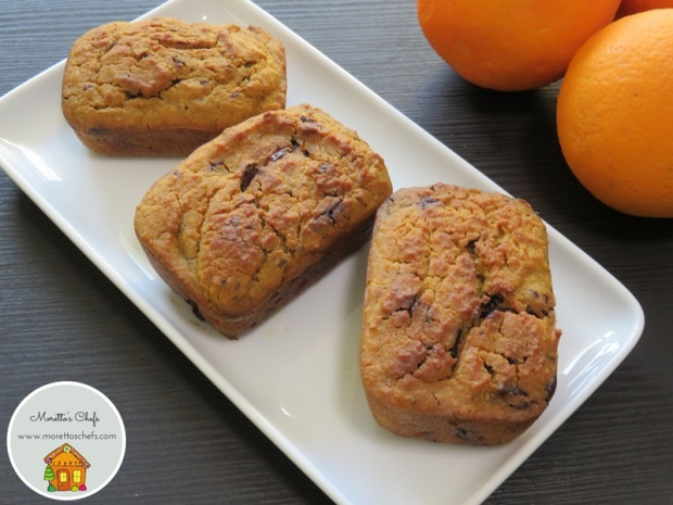 Mini plumcake all'arancia e cioccolato