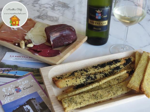 Grissini rustici senza glutine aromatizati al vino - ricetta per Podere Casale, agriturismo sui colli piacentini